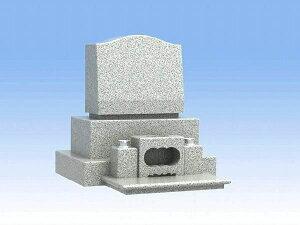 墓石 洋型三段のお墓(白御影石)【石材のみ】