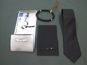 ◆礼装◆葬祭4点セット◆数珠・黒ネクタイ・喪章・香典袋