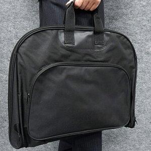 ◆ガーメントバッグ◆テーラーバッグ◆黒◆鞄◆スーツ持ち運び◆マチ付◆外観綾織 gbg05