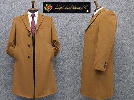 秋冬物 日本製 [ロロピアーナ] カシミヤ100% シングルチェスターコート [YA体〜AB体]対応 スタイリッシュタイプ キャメル メンズ LO-coat44