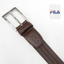 〓FILA〓フィラ 日本製 メンズ本革ベルト チョコ茶 3cm巾 ビジネスベルト 100cm対応 メール便可能 FILA03-BR