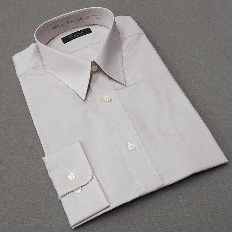 ☆訳あり ワイシャツ【新合繊】 薄灰桜 綿50% レギュラー衿 日本製 ドレスシャツ [小さいサイズ] GDD761
