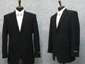 [ALAIN DELON]アランドロン 通年物シングル2釦ベーシックフォーマルスーツ[A体][AB体][BB体] 1タック 超黒 アジャスター付礼服