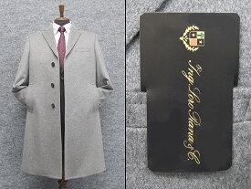 秋冬物 日本製 [ロロピアーナ] カシミヤ100% シングルチェスターコート [YA体〜AB体]対応 スタイリッシュタイプ 薄グレー メンズ LO-coat38