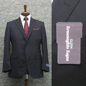 春夏物 濃紺/無地 [Ermenegildo Zegna] ゼニア COOL EFFECT使用 ベーシック2Bスーツ[A体][AB体] ロゴ入り裏地 メンズスーツ EZR62