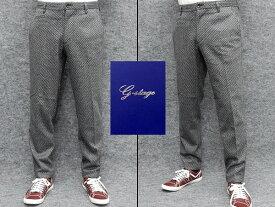 g-stage ウール混 ニット ジョガーパンツ ジャージー グレー系/幾何学柄 秋冬 gs580-004