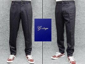 g-stage ウール混 ニット ジョガーパンツ ジャージー 黒茶系/ダイヤ格子 秋冬 gs581-010