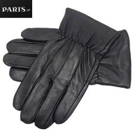 ◆手袋◆PARIS16e 羊革/シープスキン 黒 メンズ グローブ メール便可 LAM-N01-BK