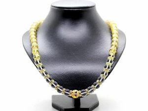 金彫龍 水晶 12mm 数珠 63cm ネックレス パワーストーン メンズ