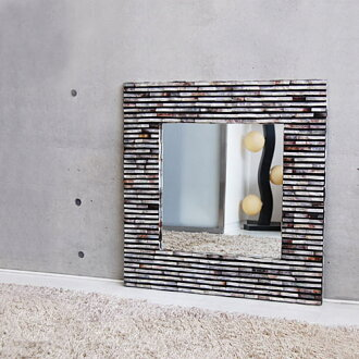 Stylish mirror shell reminds of brick wall ◆ shell Miller brick 80 cm modern Asian décor and wall hangings and resort Asian taste-Bali-Hawaiian taste