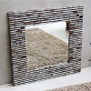 Stylish mirror shell reminds of brick wall ◆ shell Miller brick 80 cm modern Asian décor and wall hangings and resort Asian taste-Bali-Hawaiian taste