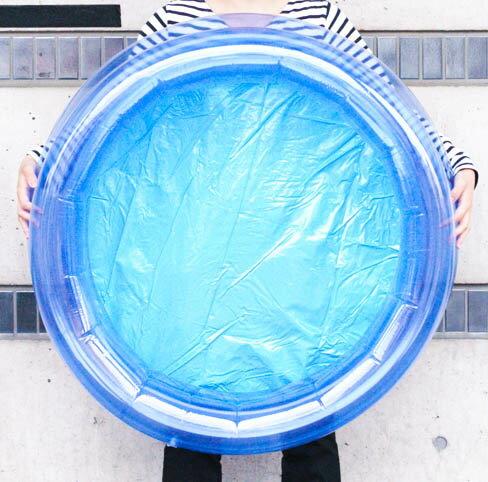 青透明ビニールプール 80cm 丸型 【縁日 イベント】 【あす楽対応】