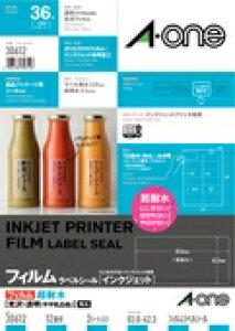 エーワン ラベルシール[インクジェット] 超耐水光沢フィルム・透明 30612