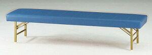 TOKIO【藤沢工業】 ロビーチェア(待合室用長椅子)折りたたみ式・背無・ビニールレザーりタイプ 4人用 FL-618 W1800xD460xH390mm