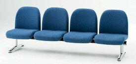 TOKIO【藤沢工業】 ロビーチェア(待合室用長椅子)背付肘無し・布張りタイプ 4人用 LA-4 W2090xD630xH740mm