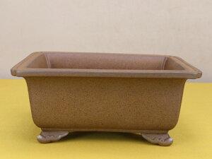 【盆栽鉢】 時代鉢 和鉢 外縁長方鉢(中型サイズ / 左右25.7cm / 無傷)いよじ園