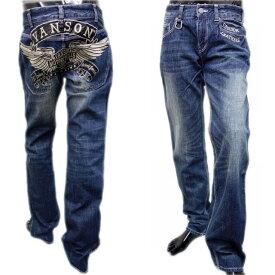 vanson(バンソン) ウイングジーンズ 紺 SP-B-10 デニム パンツ フェザー スター メンズ 新品 セール SALE 通販 通信販売