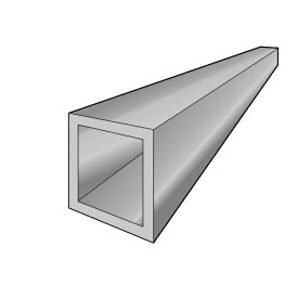 アルインコ 角パイプ 1本 寸法:15×15×1.2mm/長さ:1000mm シルバー(クリア付) アルミ型材,汎用材,ALINCO 品番:HP300SS ※合計1万円以上で送料無料