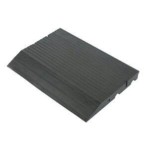 のりいれ隊 50H本体 1枚(AR-4081)段差解消ゴムスロープ H50×D420×W600mm。黒色(12kg)接続ボルト付。本体の重量に加え、ボルト連結によりガッチリ固定できます。廃タイヤのリサイクル商品。環