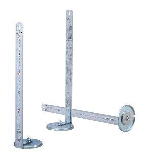 マグのスケ 2本セット AR-4111 鉄骨などのレベルを計るマグネット付きのスケール 台座:63Ф 定規:30cm(JIS規格品) ARAO (アラオ)