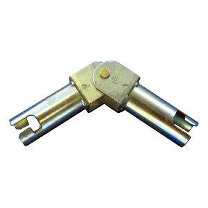 【コーナージョイントHCJ】20個セット。ピン加工単管パイプ用コーナージョイントパイプとパイプに角度をつけて結合できます。建築現場や資材置場の仮囲い等のコーナー部、手摺や防護柵