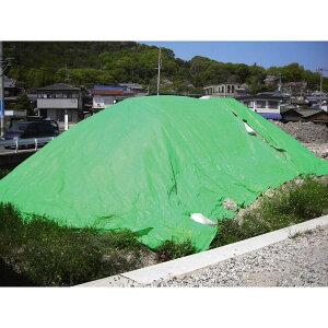 ブルーシート(#4000)サイズ:5.4×5.4m カラー:グリーン 4枚セット UVシート 耐久参考=約2〜3年 4000番手 厚手 ハトメピッチ900mm (kdt)