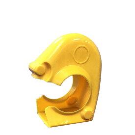 【クランプカバー(ソフトカバーSタイプ)・黄色)】100個セット。(AR-0001) ソフトタイプ,単管パイプ用クランプをカバー。樹脂製。建築用副資材。仮設資材,足場,農業資材,安全養生。Φ48.6および兼用クランプ用(アラオ)