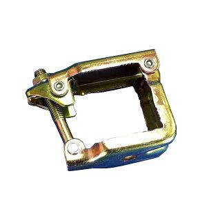 50角パイプ用単クランプ【50個セット】(Φ13穴あり)8566 機材センター様でのメンテナンスなどに。バリケード、ゲートなどの加工部品として。金属加工工場様、特殊金物製造 加工 部品供給