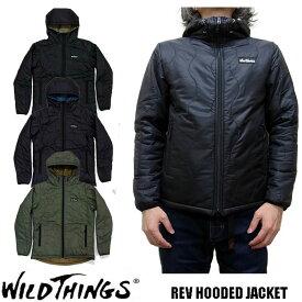 WILD THINGS ワイルドシングス REV HOODED JACKET WT17101N 全3色 プリマロフト フードジャケット WILDTHINGS