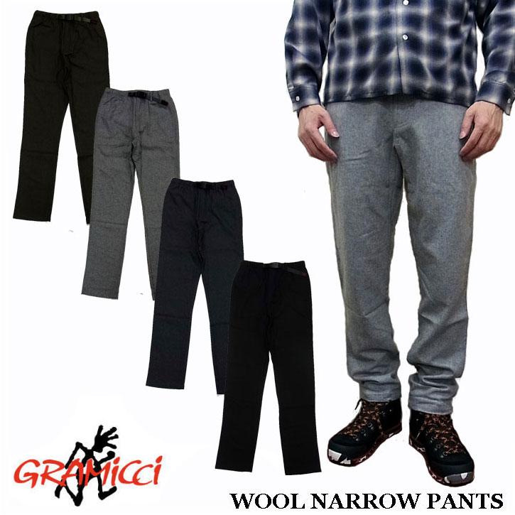 GRAMICCI WOOL NARROW PANTS グラミチ ウール素材 ナローパンツ 全4色 GMP-16F013