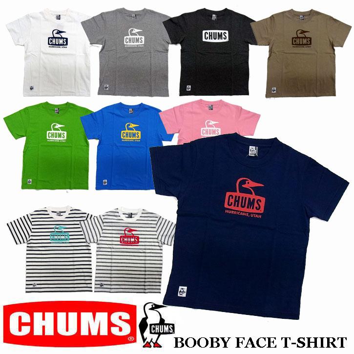 2018新作 CHUMS BOOBY FACE T-SHIRTS 全10色 メンズ チャムス ブービーフェイス Tシャツ CH01-1325