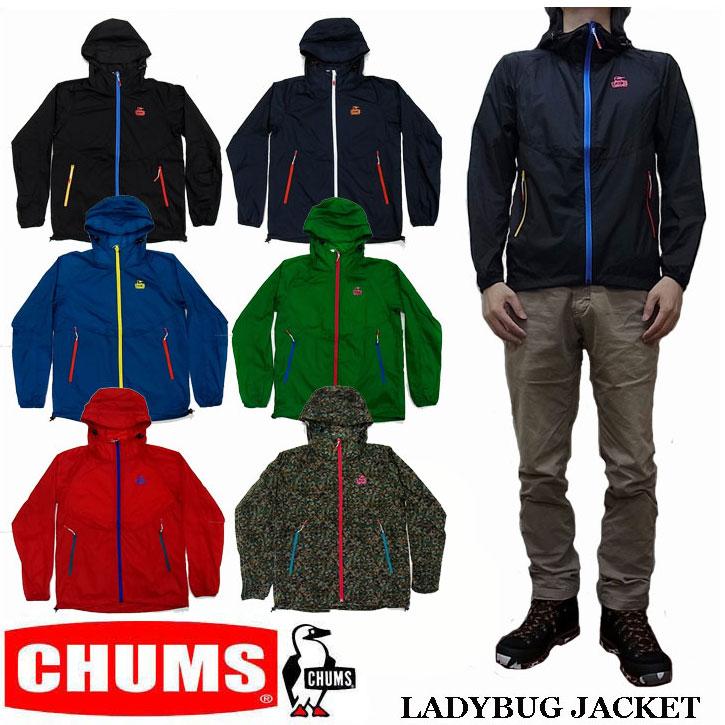 CHUMS LADYBUG JACKET 全7色 チャムス レディバグジャケット マウンテンパーカー ライトシェル アノラック CH04-1037
