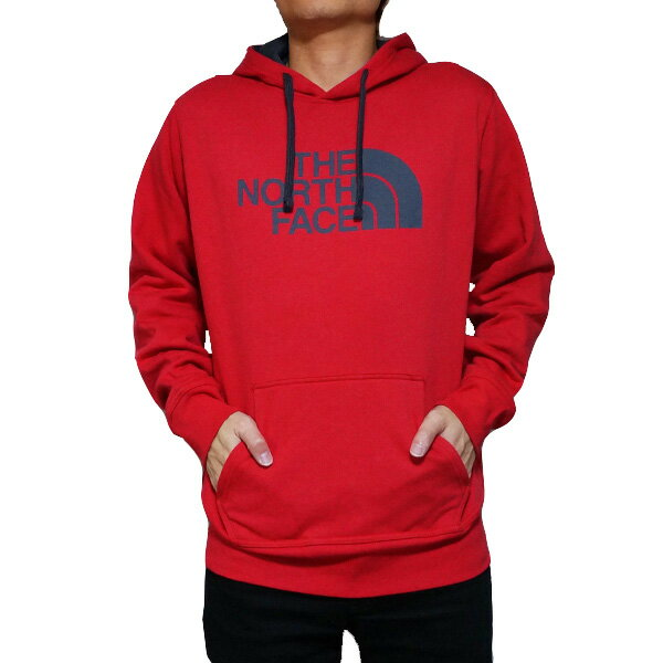 ノースフェイス パーカー メンズ ハーフドーム プルオーバー The North Face Men's Half Dome Hoodie Pullover Tnf Red/Asphalt Grey 【コンビニ受取対応商品】