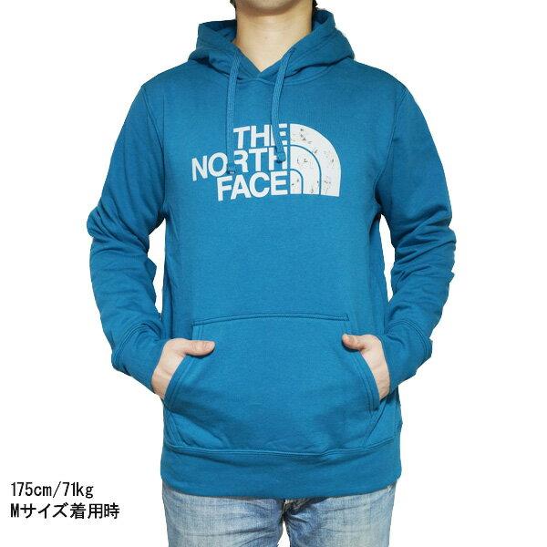 ノースフェイス パーカー メンズ ハーフドーム プルオーバー パーカー ブルー The North Face Men's Half Dome Hoodie Pullover Blue Coral / High Rise Grey Coyotes Print