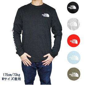 ノースフェイス 長袖Tシャツ 袖ロゴ メンズ ヒット ロングスリーブ Tシャツ ロンT The North Face Men's Sleeve Hit Long-Sleeve T-Shirt