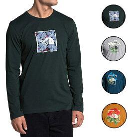 ノースフェイス Tシャツ メンズ 長袖Tシャツ US 限定モデル ヒマラヤ ボトル ソース ロンT Tシャツ 大きいサイズ グリーン/ブルー/グレー/イエロー The North Face Men's Himalayan Bottle Source Long Sleeve Tee 送料無料