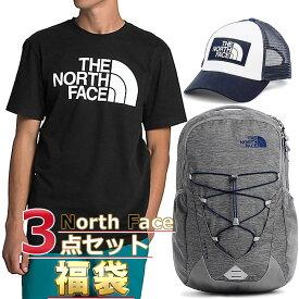 ノースフェイス 福袋 Tシャツ キャップ リュック メンズ 3点セット USAモデル THE North Face 送料無料 メンズ ブランド 福袋 取寄