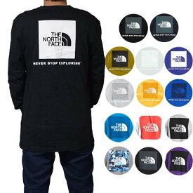 ノースフェイス Tシャツ メンズ 長袖Tシャツ バックプリント ボックスロゴ ロンT Tシャツ 大きいサイズ The North Face Men's NES 2.0 Red Box T-Shirt