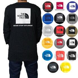 ノースフェイス メンズ 長袖Tシャツ バックプリント レッドボックス ロンT Tシャツ The North Face Men's Red Box T-Shirt