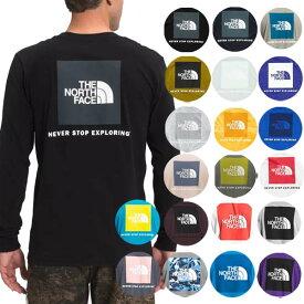 ノースフェイス Tシャツ メンズ 長袖Tシャツ バックプリント S-XXL ボックスロゴ ロンT Tシャツ 大きいサイズ The North Face Men's NES 2.0 Red Box T-Shirt 送料無料