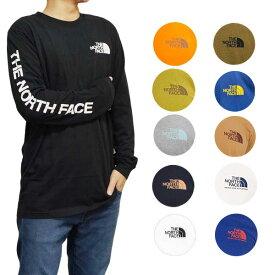 ノースフェイス 長袖Tシャツ 袖ロゴ メンズ S-XXL ヒット ロングスリーブ Tシャツ ロンT 大きいサイズ ブランド アウトドア The North Face Men's Sleeve Hit Long-Sleeve T-Shirt 送料無料
