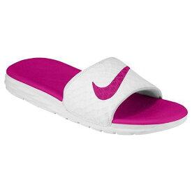NIKE ナイキ レディース サンダル ベナッシ ソーラーソフト スライド 2 Nike Women's Benassi Solarsoft Slide 2 White Fireberry