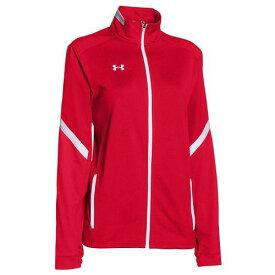 (取寄)アンダーアーマー レディース チーム Qualifier ウォーム アップ ジャケット レッド 赤 Under Armour Women's Team Qualifier Warm Up Jacket Team Red White 【コンビニ受取対応商品】