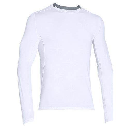 アンダーアーマー メンズ ヒートギア クールスイッチ ラン ロング スリーブ トップ Under Armour Men's HeatGear Coolswitch Run Long Sleeve Top White White Reflective【コンビニ受取対応商品】