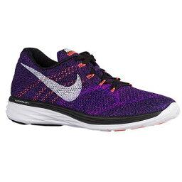 (索取)NIKE耐吉人油炸食品編織物月神3跑步鞋運動鞋Nike Mens Flyknit Lunar 3 Black Concord Vivid Purple White