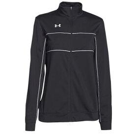 (取寄)アンダーアーマー レディース チーム ライバル ニット ウォーム アップ ジャケット Under Armour Women's Team Rival Knit Warm Up Jacket Black White 【コンビニ受取対応商品】