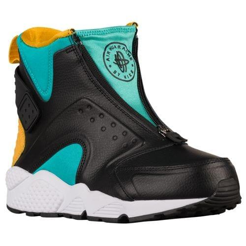 (取寄)ナイキ レディース エア ハラチ ラン ミッド Nike Women's Air Huarache Run Mid Clear Jade Black University Gold White