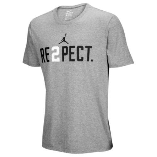 (取寄)ジョーダン メンズ ジーター デレクジーター Tシャツ Jordan Men's Jeter Re2pect T-Shirt Wolf Grey White Black