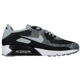 (order) Nike men Air Max 90 ultra 2.0 fly knit Nike Men's Air Max 90 Ultra 2.0 Flyknit Black Wolf Grey Pure Platinum