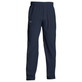 (取寄)アンダーアーマー メンズ チーム スクウォッド ウーブン ウォーム アップ パンツ Under Armour Men's Team Squad Woven Warm Up Pants Midnight Navy Steel